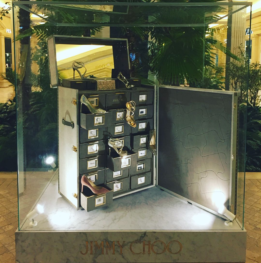"JIMMY CHOO, Crocus City Mall, Moscow, Russia, ""Needed; Bigger Shoe Closet"", photo by VM+ru, pinned by Ton van der Veer"