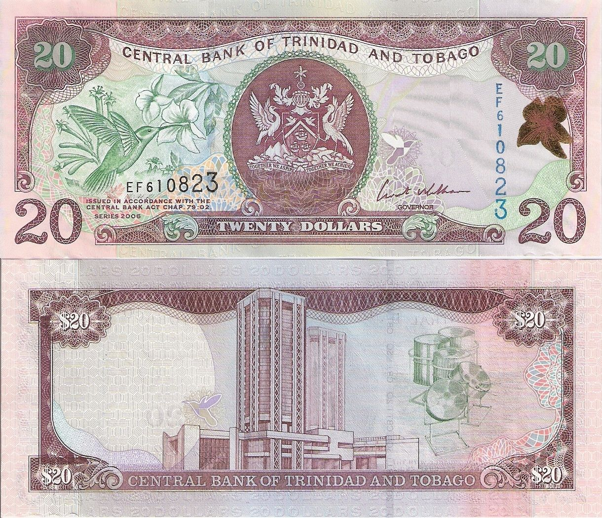 Trinidad 20 Dollars Banknote World Currency North