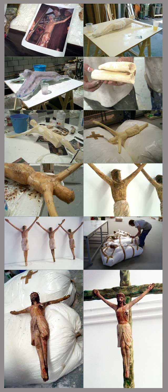 """Cristo de atrezzo para pelicula """"La Promesa"""". www.troppovero.com"""
