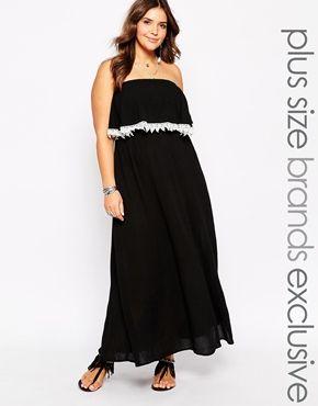 892e94c9fcf Alice   You Bandeau Crochet Trim Maxi Dress