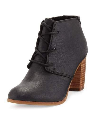 00a03248b70 TOMS Lunata Faux-Leather Ankle Boot, Black. Love the wood heel ...