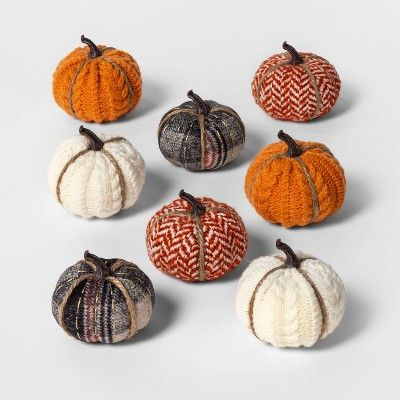 Here Are The Best Home Products From Target S New Fall Collections Fabric Pumpkins Pumpkin Halloween Decorations Halloween Pumpkins