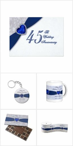 45th Wedding Anniversary Collection Gift IdeasParty