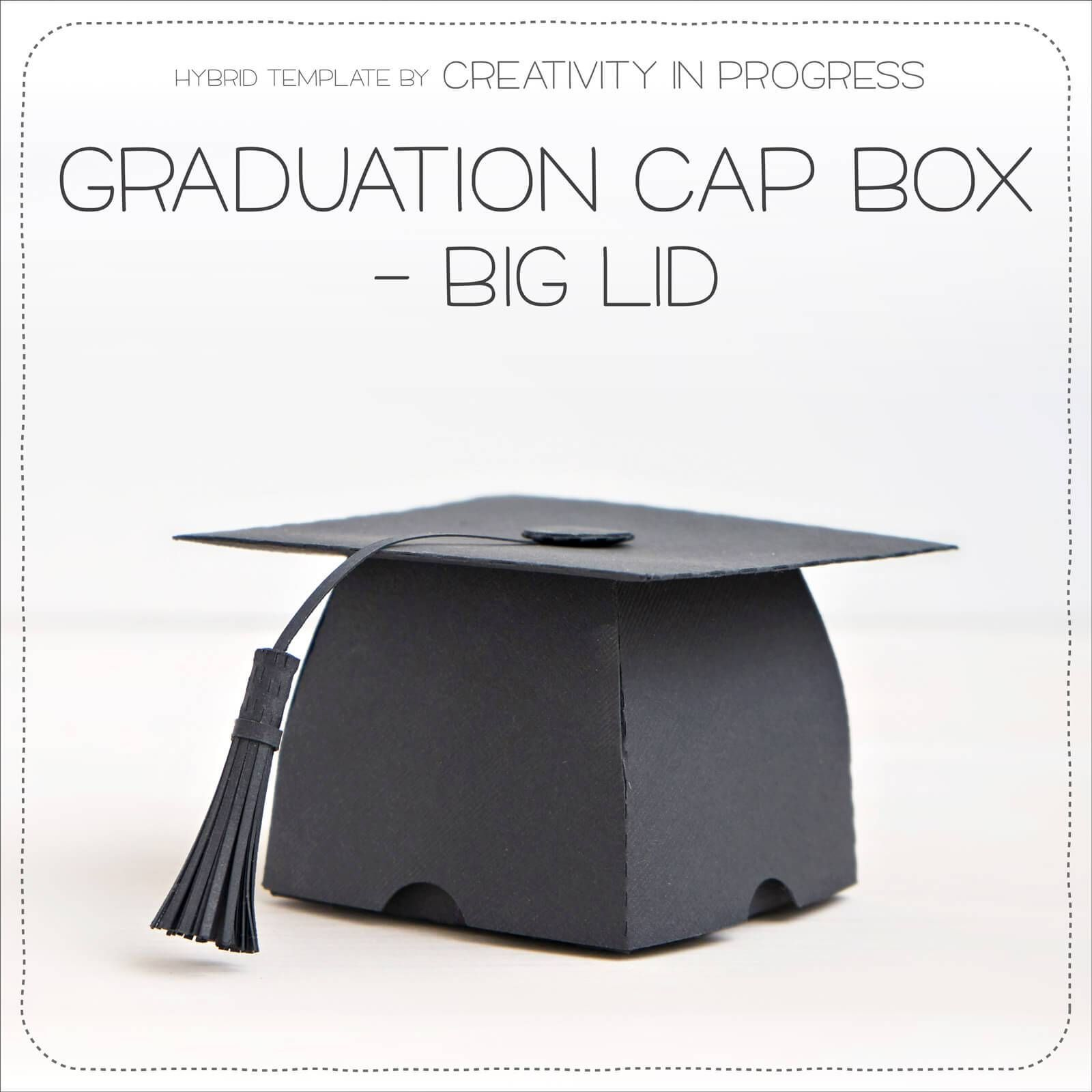 Graduation Cap Box Lid Party Favor The Perfect Way To Gift Graduates Free Paper Templates Silhouette Cameo Cut File