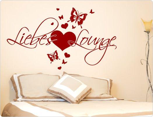 Schlafzimmer Wandtattoo Liebes Lounge Wandsticker Liebe, Beziehung - wandtattoo schlafzimmer sprüche