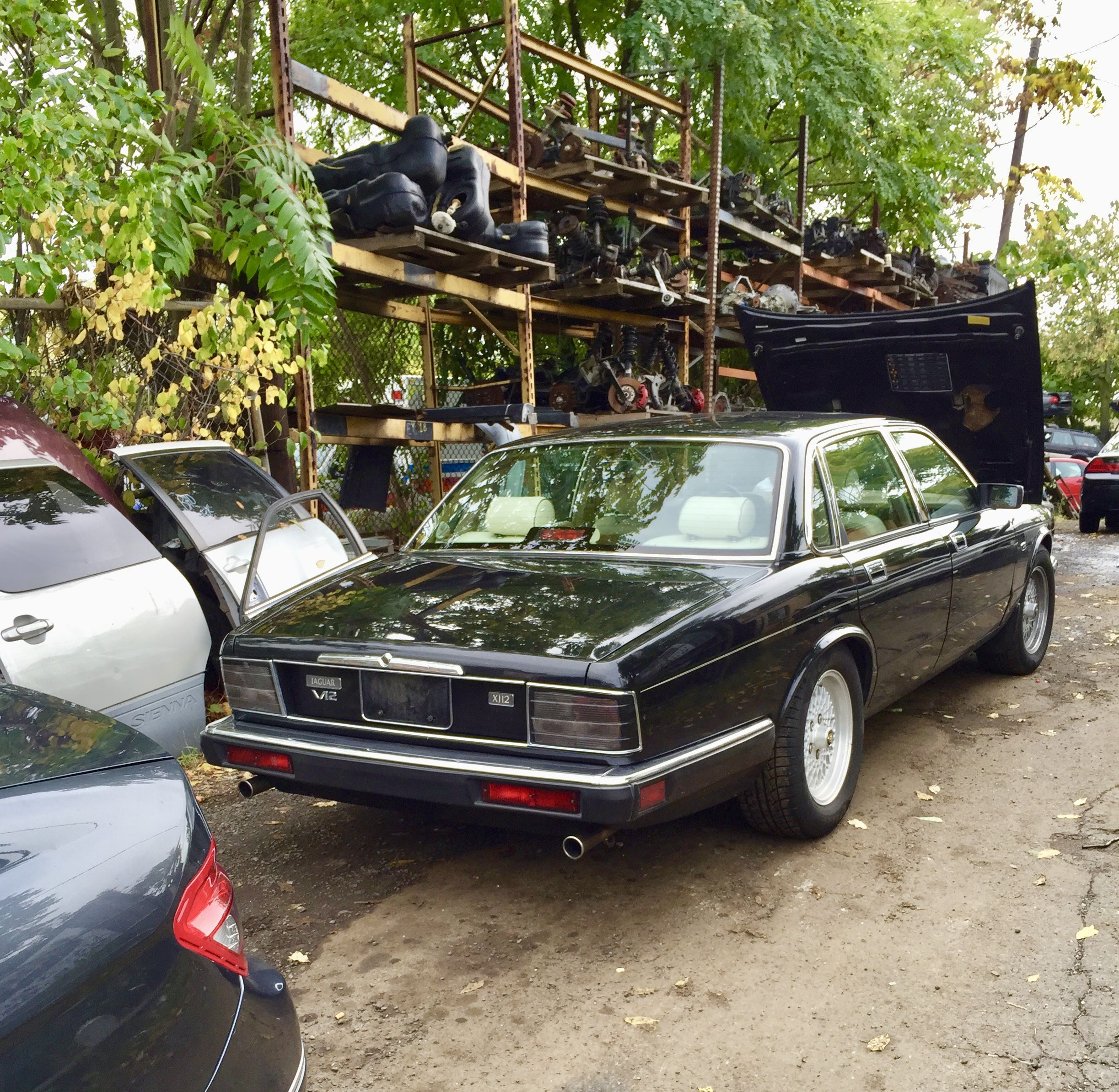 Jaguar Xj12 Towed To Salvage Yard In Union Nj Had I Known It Was