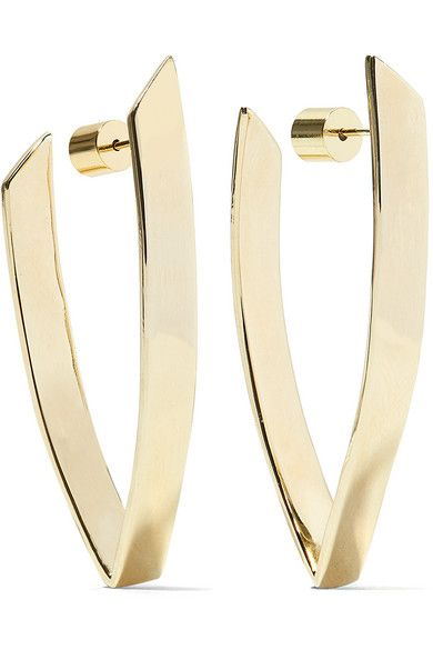 Triangle Silver And Gold-plated Earrings - one size Jennifer Fisher WWsl9