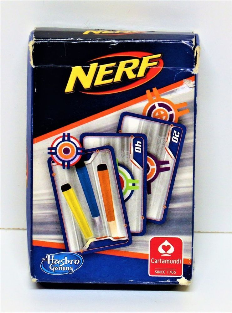 NERF FOAM DARTS GUN CARDS HASBRO GAMING CARTAMUNDI TARGET SHOOTING GAME KIDS  | eBay