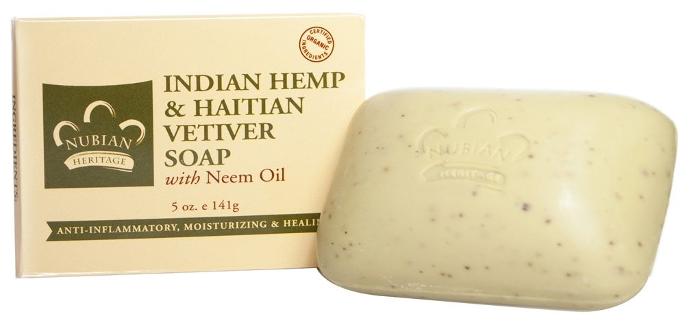 Bar soap indian hemp haitian vetiver 5 oznubian