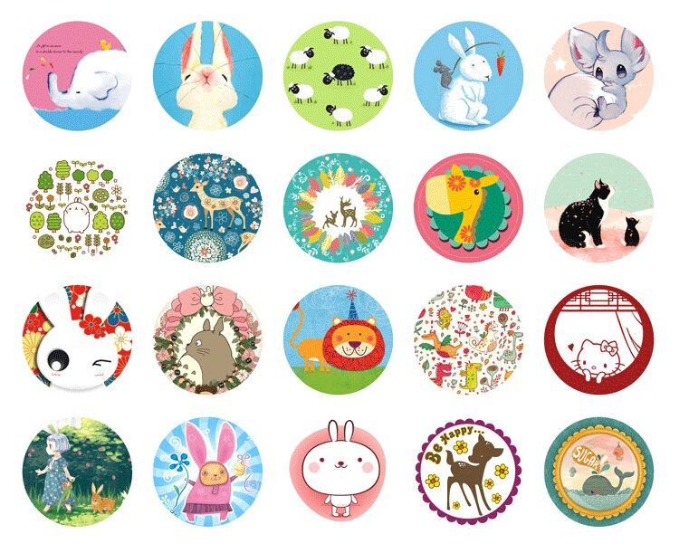38Pcs Lovely Christmas Stickers DIY Scrapbook And Crafts Decorative Sticker SE