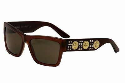 97210952b50fc Versace Men s VE4289 VE 4289 5130 73 Transparent Brown Sunglasses 58mm