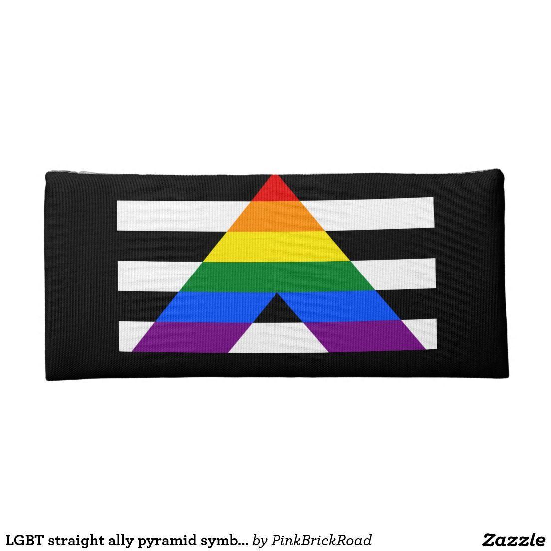 Lgbt Straight Ally Pyramid Symbol Pencil Case Lgbt Pride