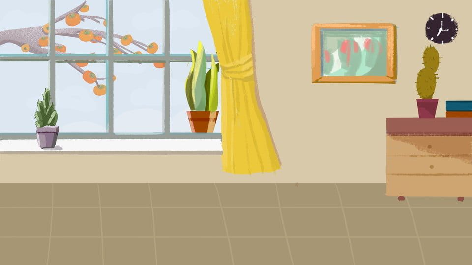 Living Room Home Warm And Fresh Illustration Background Design Di