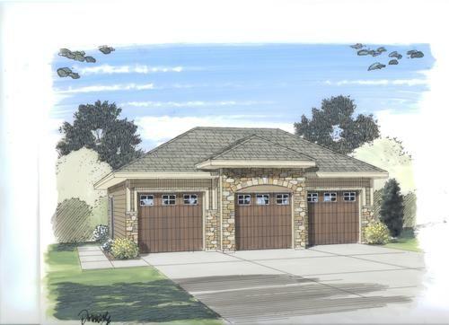 26 X 36 X 11 3 Car Garage With Fancy Hip Roof Garage Style Garage Design 3 Car Garage Plans