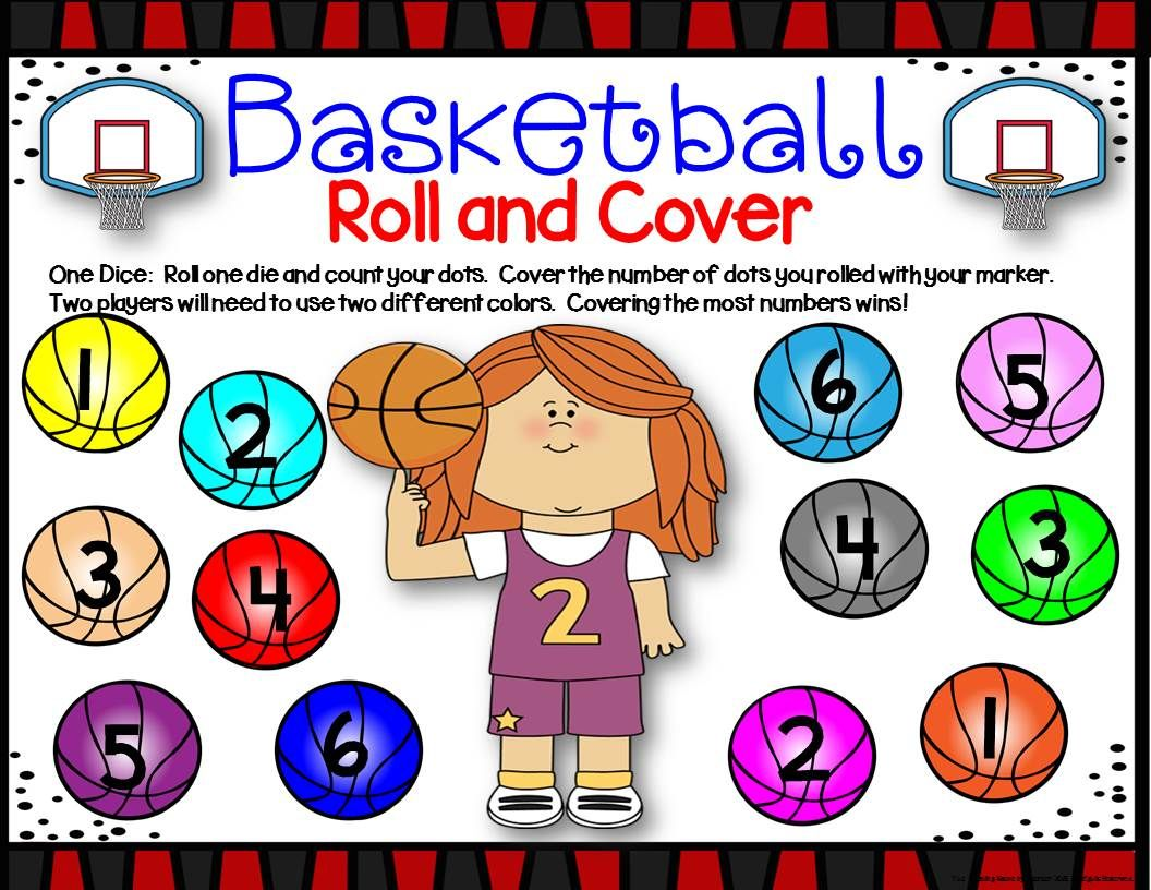 Basketball Math Center Dice Games
