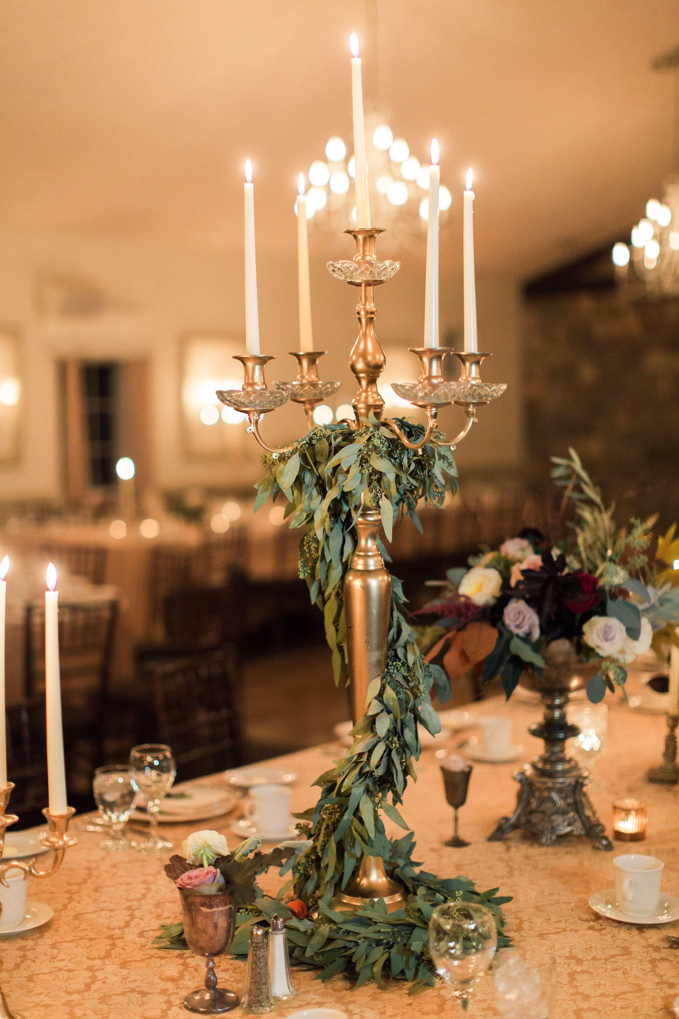 Romantic Candlelit Autumn Wedding Candelabra Wedding Centerpieces Christmas Wedding Centerpieces Candelabra Wedding