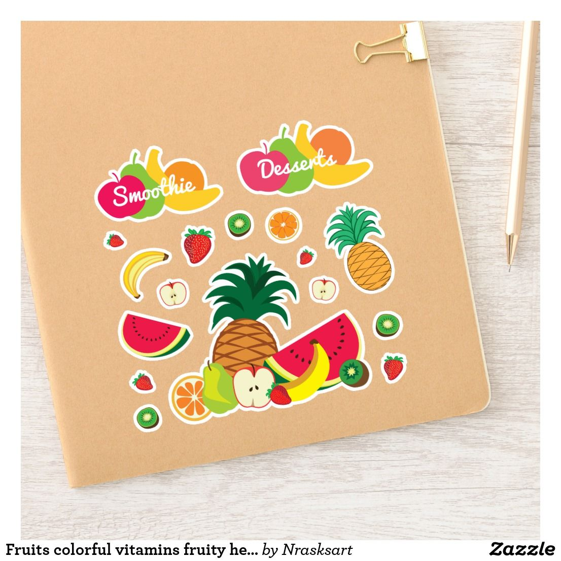 Fruits Colorful Vitamins Fruity Healthy Food Cute Sticker