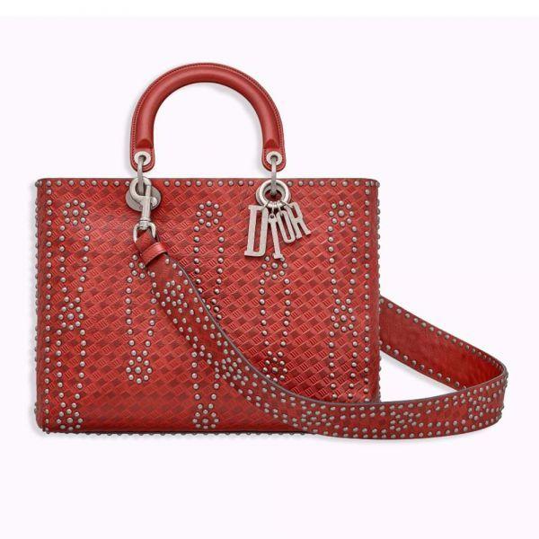 c2f5f488e0 Dior Large Lady Dior Bag in Studded Calfskin | www.Brands-hub.co ...