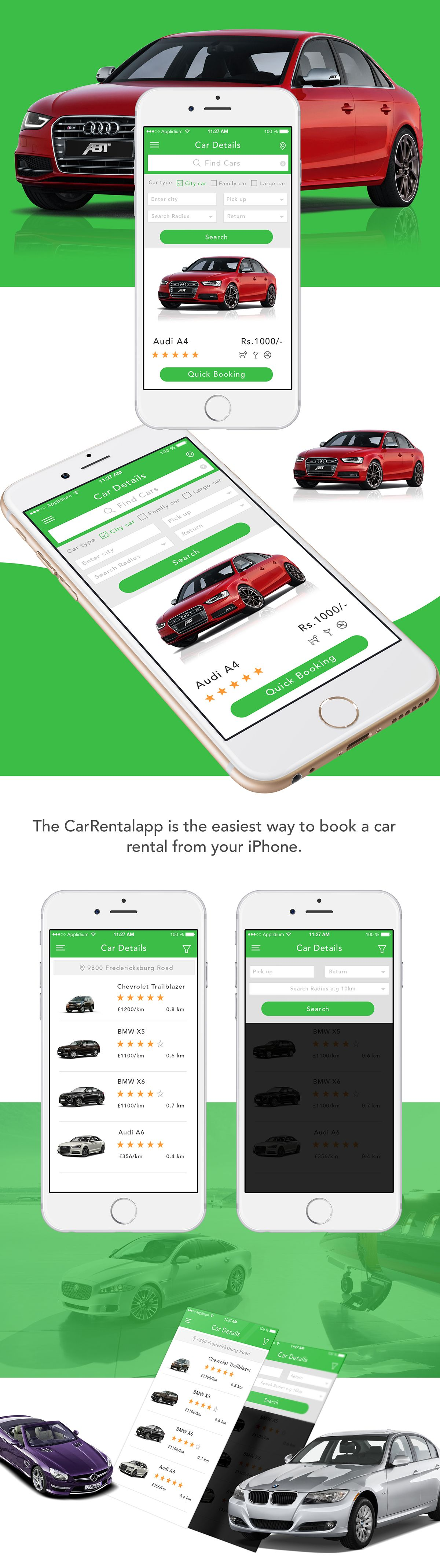 Car Rental App iOS on Behance