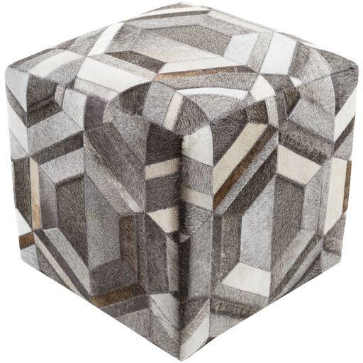 Surya Lycaon Cube Pouf - Animal - LCPF-002