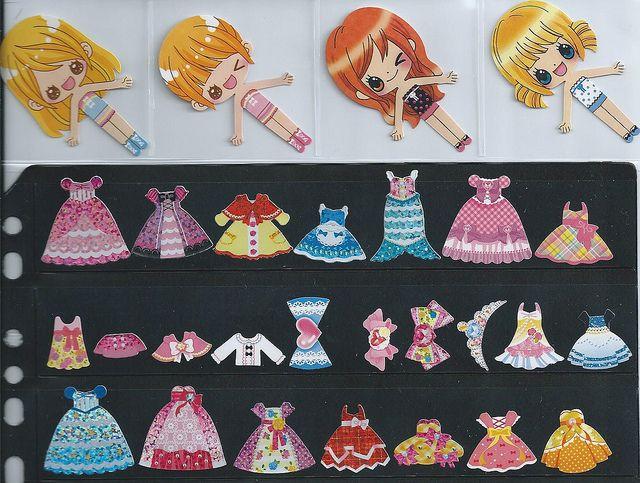 Crux Paper Doll kawaii sticker sacks - available | Flickr - Photo Sharing!