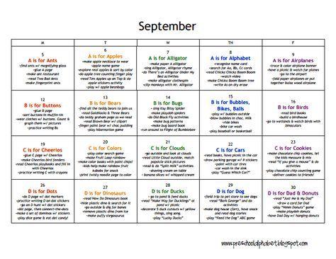 lesson plans preschool  septemberpdf  preschool lesson