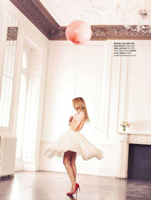 Clémence Poésy by David Oldham for Glamour UK February 2012