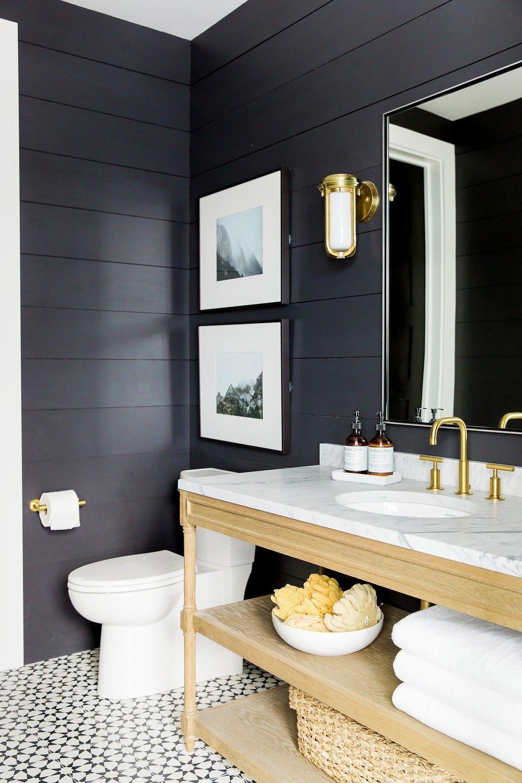 Don T Use Glossy Paint There Is Flat Paint That Is Still Wipeable So You Can Get A High End Modern Farmhouse Bathroom Bathroom Decor Farmhouse Bathroom Decor