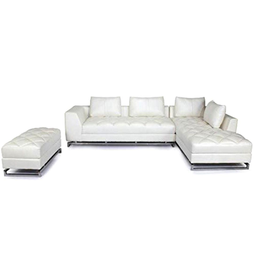 Gorevizon White 5 Seater L Shaped Sofa Set L Shaped Sofa Sofa Set White Sofa Design