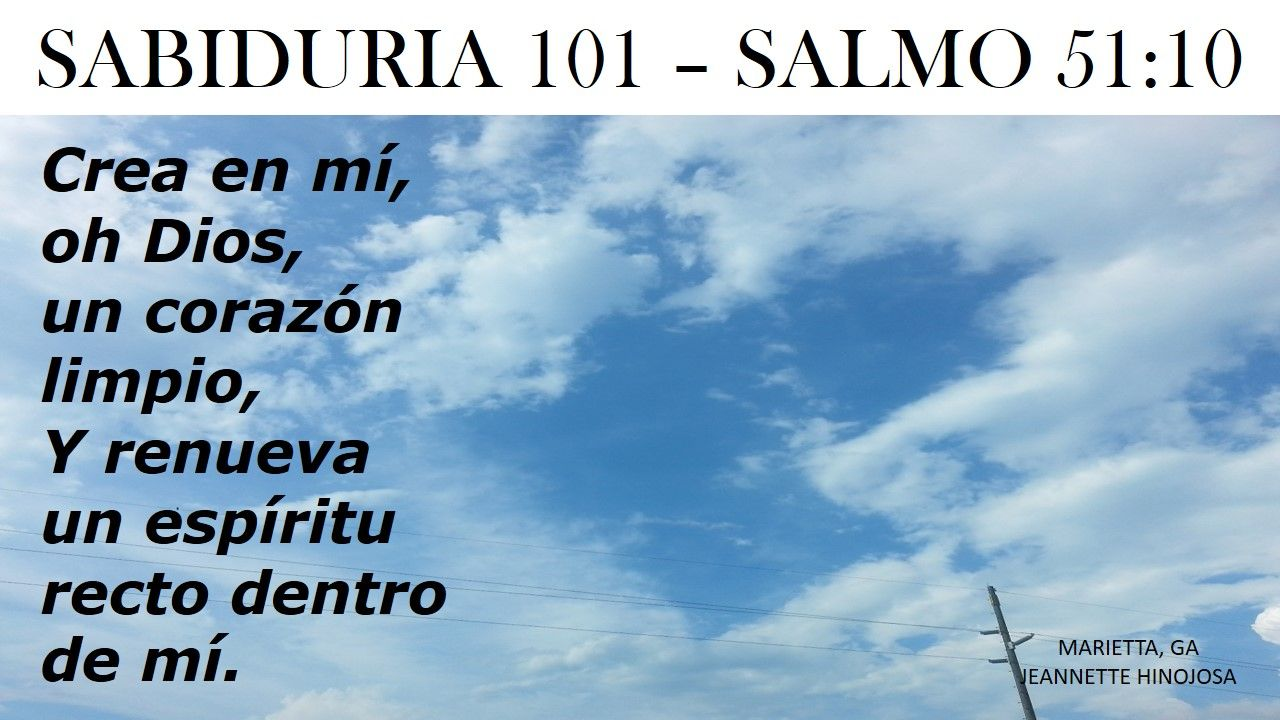 SALMO 51:10 - MARIETTA, GA