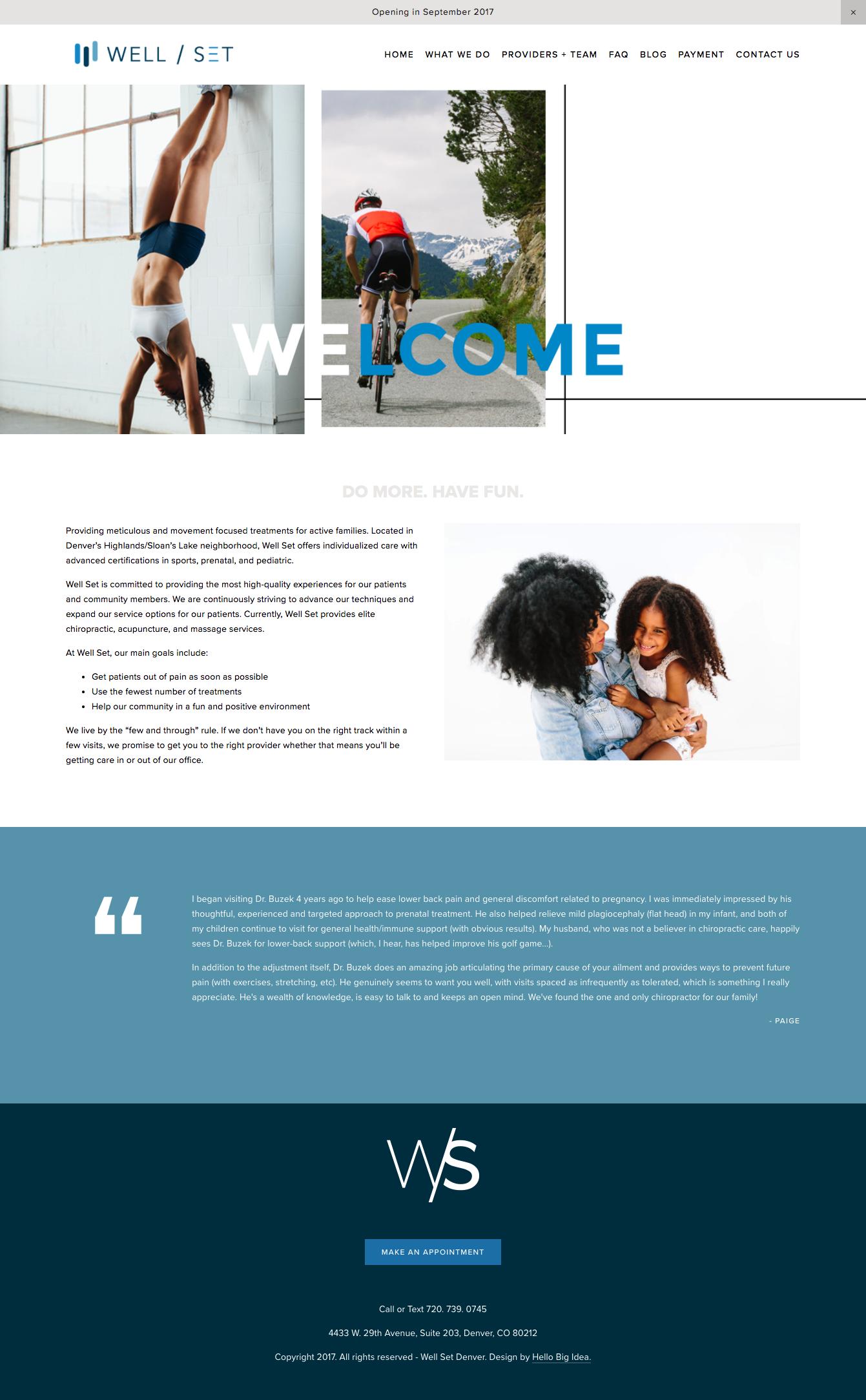 Well Set Denver Creative Agency Website Design Inspiration Agency