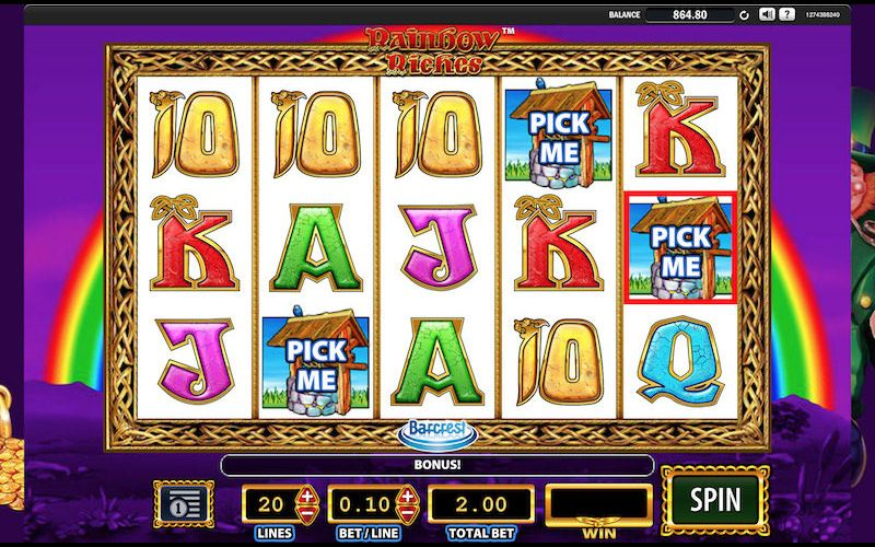 Rainbow Riches slot is the popular slot from Barcrest with