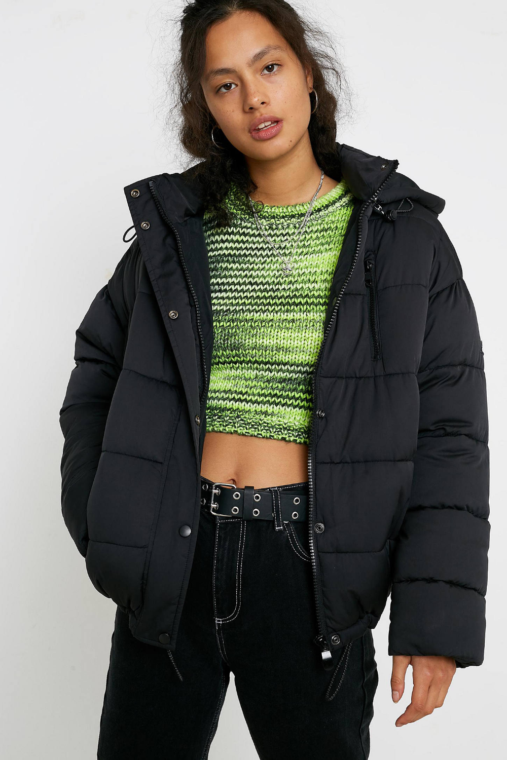Puffer Jacket With Hood Womens