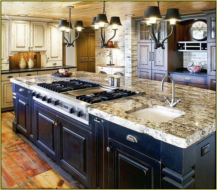 Attractive Home Improvements Refference Kitchen Island With Sink And Stove Top Design  Ideas