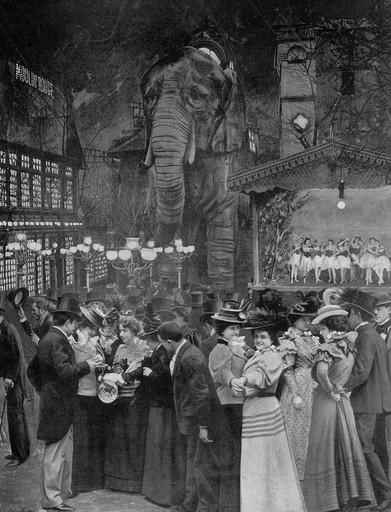 Garden of the Moulin Rouge c.1898 (Recognize the Elephant from the 2001 movie?)
