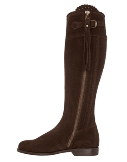 Really Wild Spanish Boots in Chocolate Suede