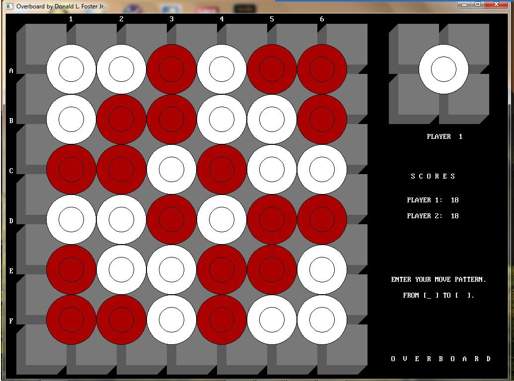 Overboard Board Game in QB64   The QB64 Edition   Games