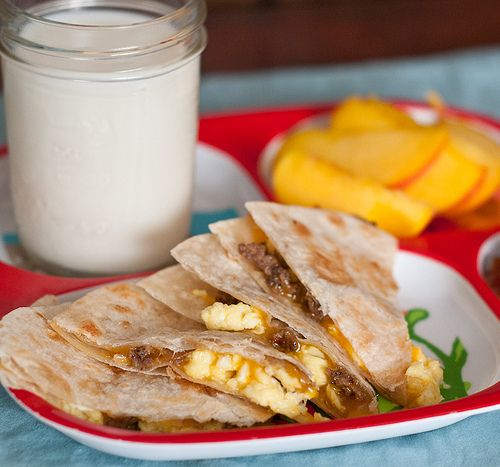Loaded Breakfast Quesadillas Great Finger Food For Toddlers And The Hubby On His Way