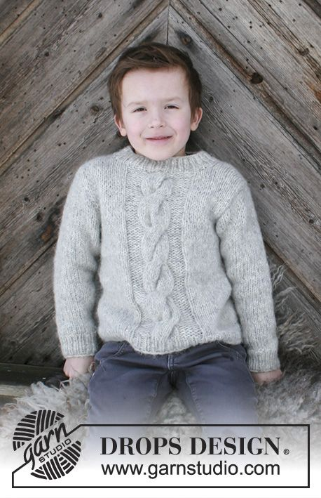 Isak - Knitted children\'s jumper with cables. Sizes 2 - 12 years ...