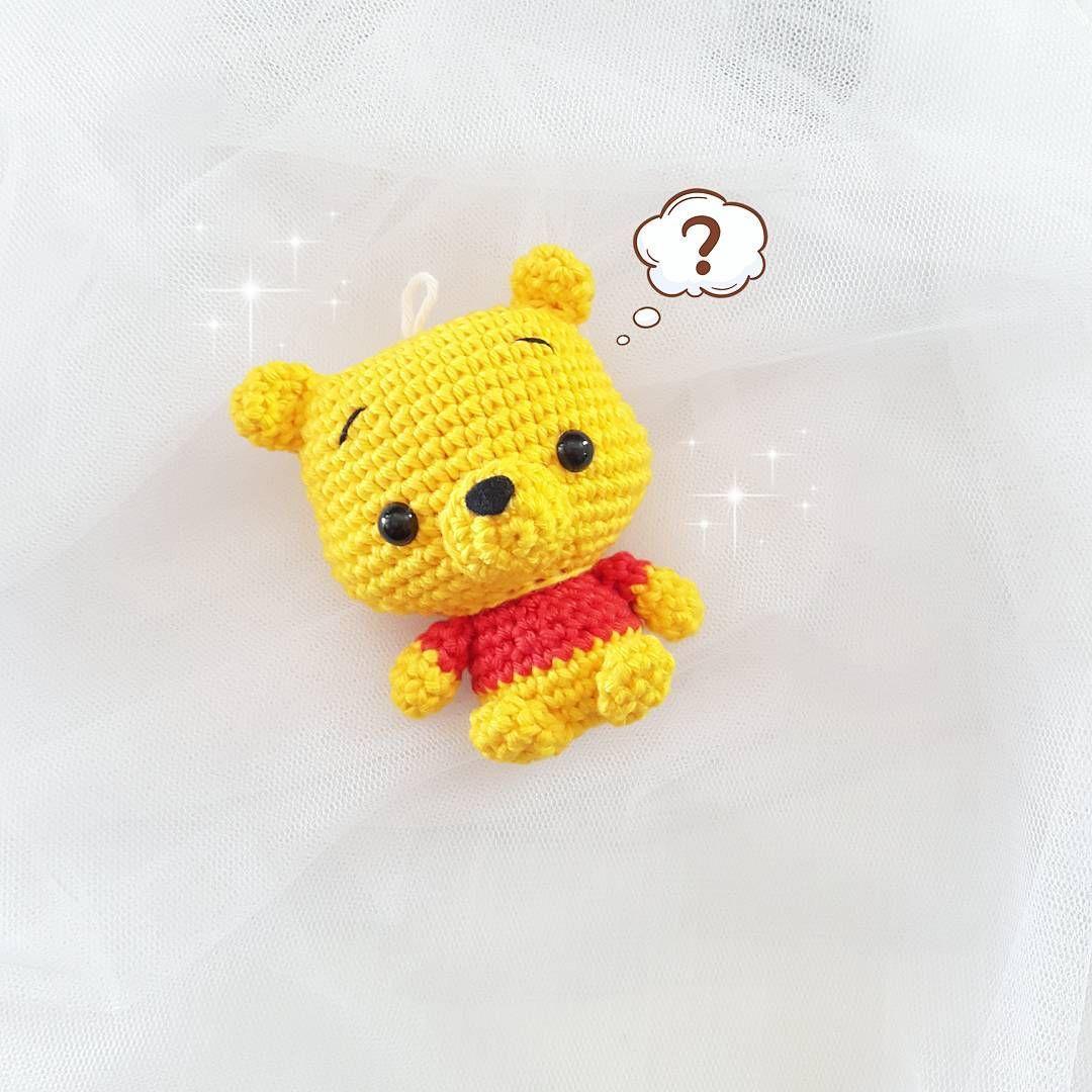 Cute Pooh amigurumi - Free Pattern | Crochet | Pinterest | Llaveros ...