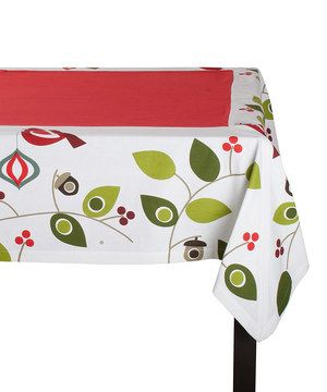 84x60 Spread Christmas cheer at dinner parties with this trendy tablecloth. Featuring chic seasonal designs, it protects surfaces and puts a great finishing touch on dining décor.