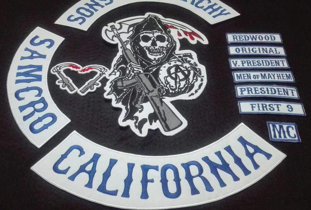 Sons Of Anarchy Patches Full Set Embroidery Biker Patches For Jacket Biker Patches Sons Of Anarchy Patches Jacket