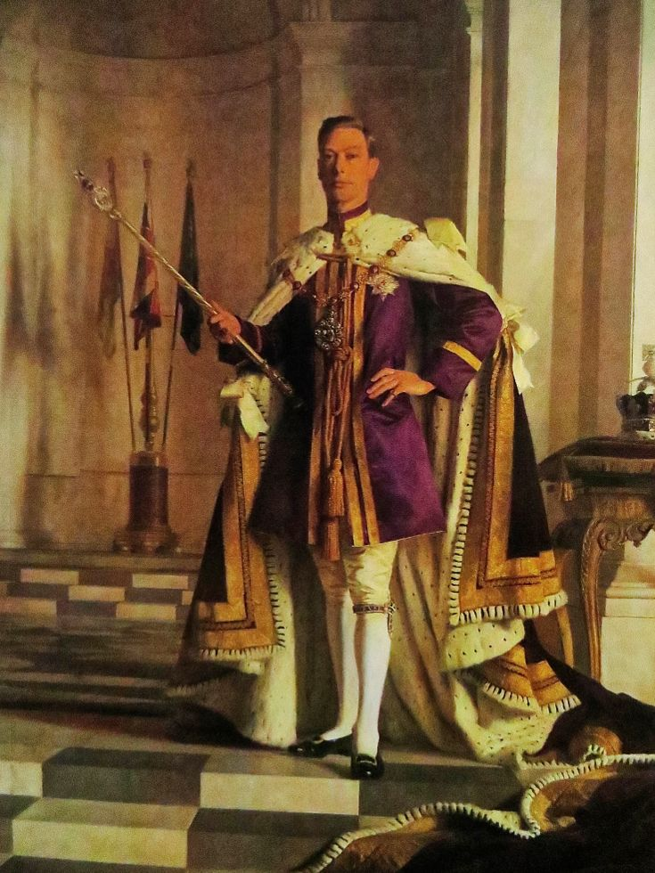 George VI, King of England and Emperor of India in coronation robes with  the new Imperial State Crown on the tab… | George vi, List of british  monarchs, King george