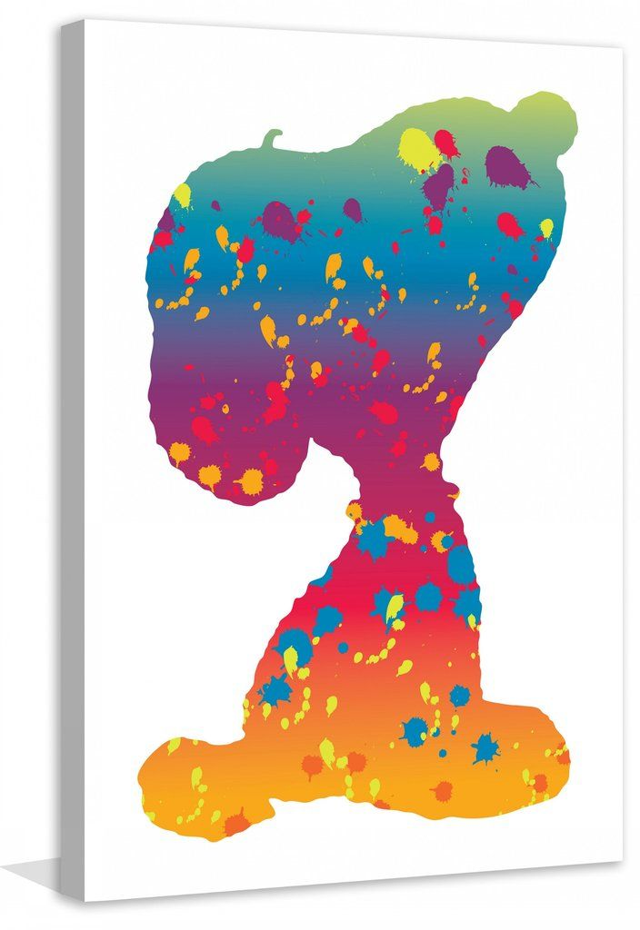 Rainbow Snoopy - Peanuts Collection, art on canvas. | Tekenfiguren ...