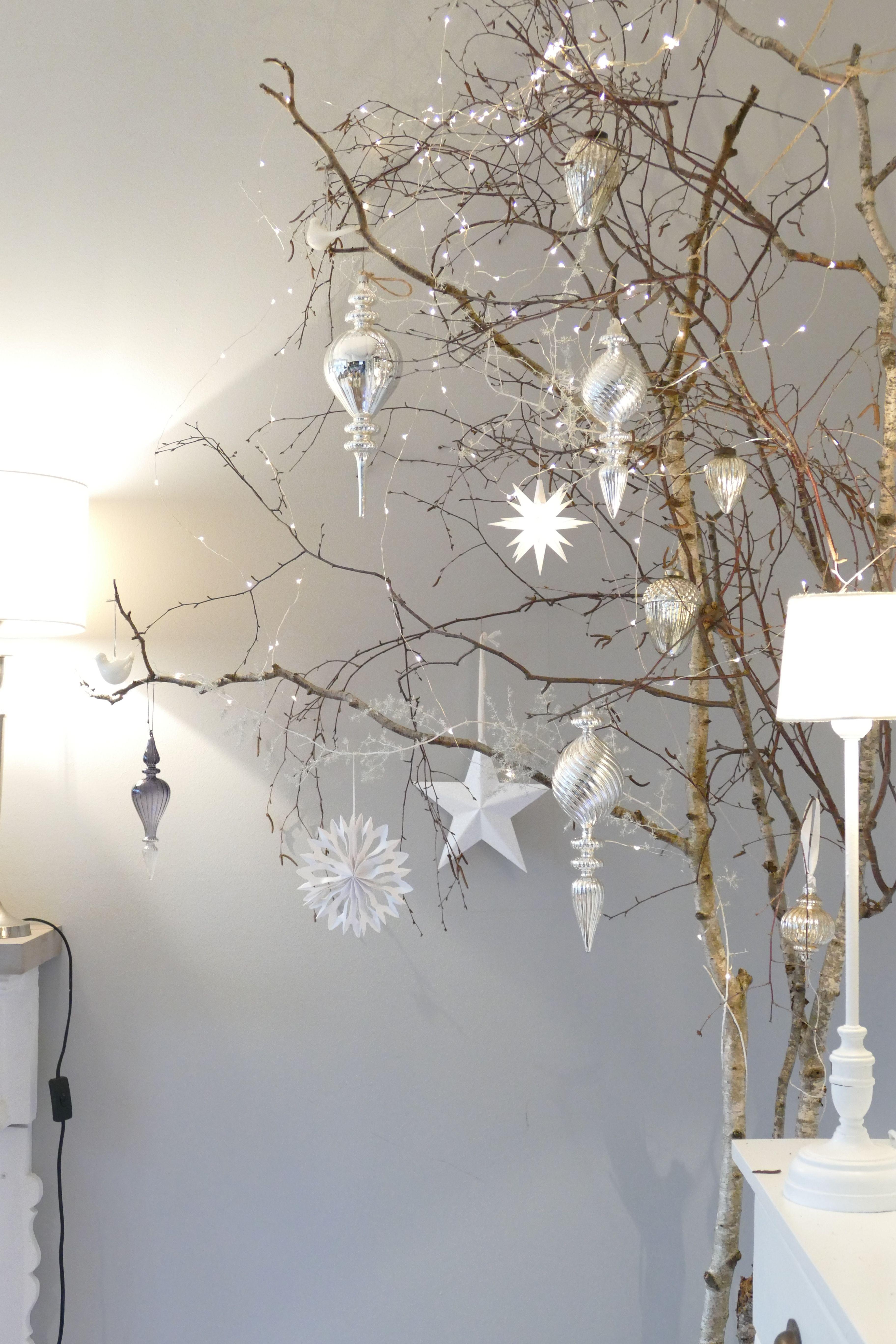 Birken Weihnachten Dekoration Weihnachtlicheszuhause Birken