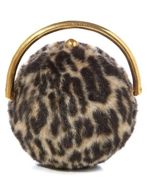 Leopard faux fur clutch by Stella McCartney  fbff2e5e68b08