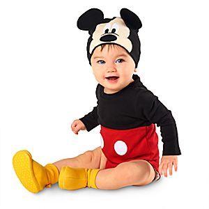 Baby Disney Mickey Mouse Costume Bodysuit Girls Boys Kids Fancy Dress Outfit