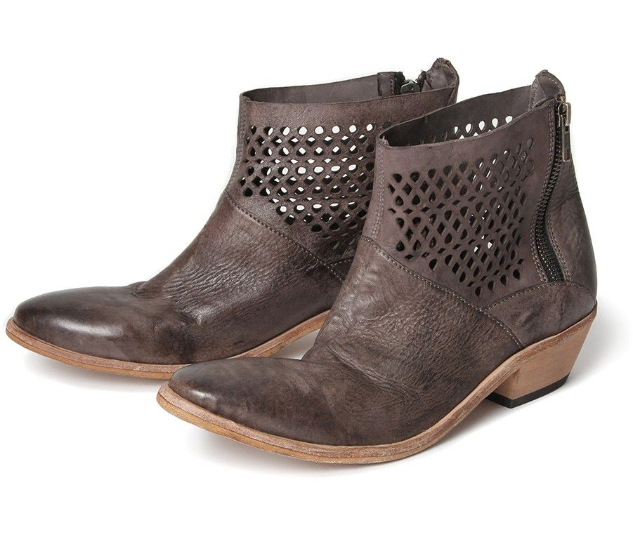 Women's Rift (Grey) Dip Dye Leather Ankle Boot | H Shoes