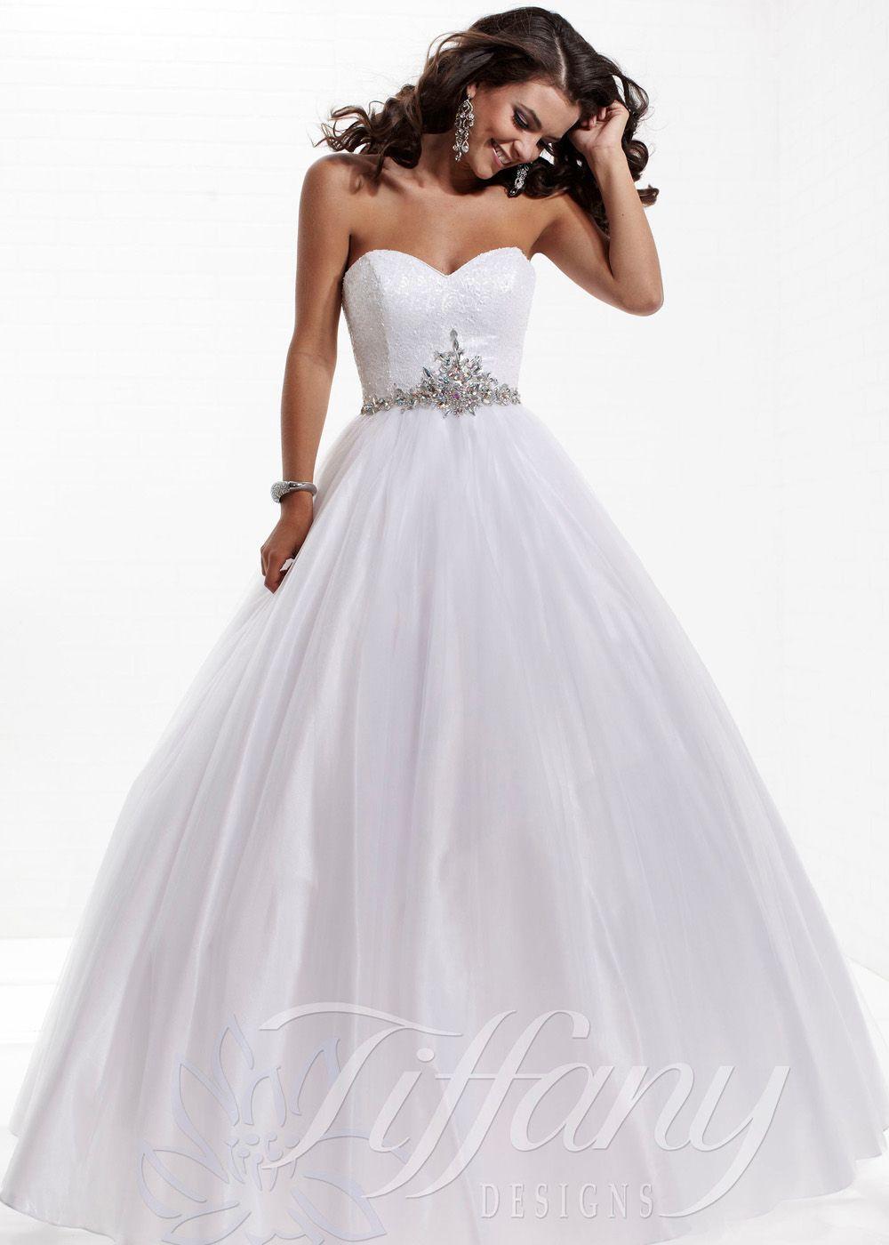 Tiffany designs white ball gown wedding dresses