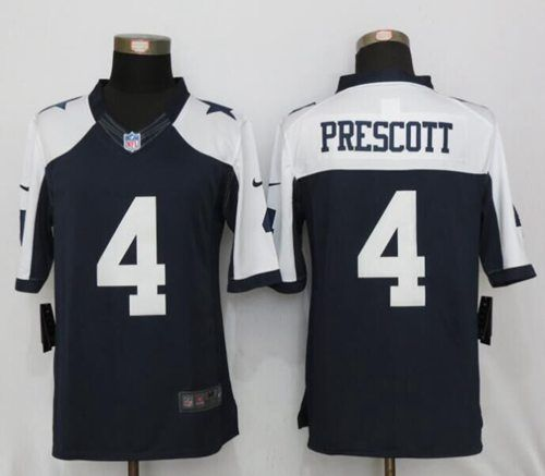9ee717c27 Nike Cowboys #4 Dak Prescott Navy Blue Thanksgiving Men's Stitched NFL  Limited Jersey